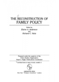 Obálka knihy  Reconstruction of Family Policy od Anderson Elaine A., ISBN:  9780313278990