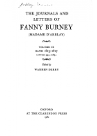 Obálka knihy  Journals and Letters of Fanny Burney (Madame d'Arblay): Volumes IX and X: Bath 1815-1817 and 1817-1818 od Burney Fanny, ISBN:  9780198125082