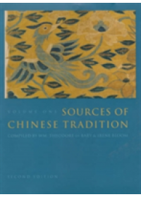 Obálka knihy  Sources of Chinese Tradition od , ISBN:  9780231109383
