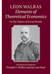 Obálka knihy  Leon Walras: Elements of Theoretical Economics od Walras Leon, ISBN:  9781107651456