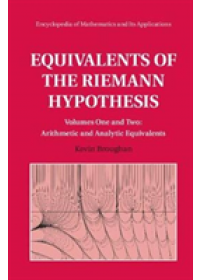 Obálka knihy  Equivalents of the Riemann Hypothesis 2 Hardback Volume Set od Broughan Kevin (University of Waikato New Zealand), ISBN:  9781108290784