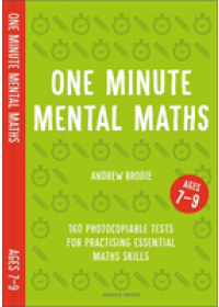Obálka knihy  One Minute Mental Maths for Ages 7-9 od Brodie Andrew, ISBN:  9781472958938