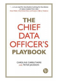 Obálka knihy  Chief Data Officer's Playbook od Carruthers Caroline (Chief Data Officer Network Rail), ISBN:  9781783302574