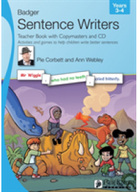 Obálka knihy  Sentence Writers Teacher Book with Copymasters and CD: Years 3-4 od Corbett Pie, ISBN:  9781788375474