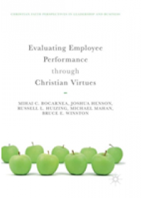 Obálka knihy  Evaluating Employee Performance through Christian Virtues od Bocarnea Mihai C., ISBN:  9783030089696