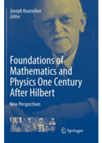 Obálka knihy  Foundations of Mathematics and Physics One Century After Hilbert od , ISBN:  9783030097288