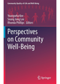 Obálka knihy  Perspectives on Community Well-Being od , ISBN:  9783030151140