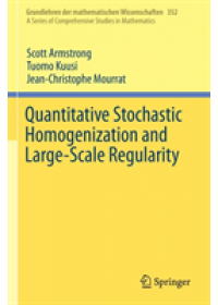 Obálka knihy  Quantitative Stochastic Homogenization and Large-Scale Regularity od Armstrong Scott, ISBN:  9783030155476