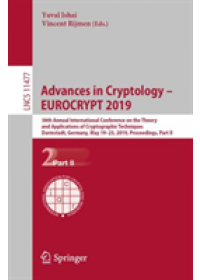 Obálka knihy  Advances in Cryptology - EUROCRYPT 2019 od , ISBN:  9783030176556