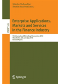 Obálka knihy  Enterprise Applications, Markets and Services in the Finance Industry od , ISBN:  9783030190361