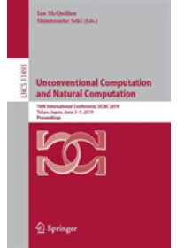Obálka knihy  Unconventional Computation and Natural Computation od , ISBN:  9783030193102