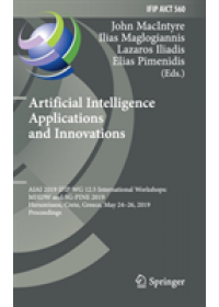 Obálka knihy  Artificial Intelligence Applications and Innovations od , ISBN:  9783030199081