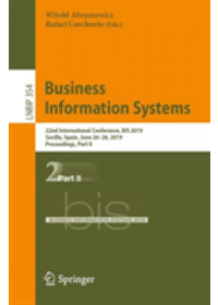 Obálka knihy  Business Information Systems od , ISBN:  9783030204815