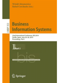 Obálka knihy  Business Information Systems od , ISBN:  9783030204846