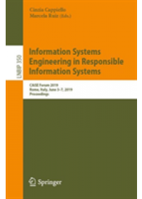 Obálka knihy  Information Systems Engineering in Responsible Information Systems od , ISBN:  9783030212964