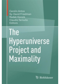 Obálka knihy  Hyperuniverse Project and Maximality od , ISBN:  9783319629346