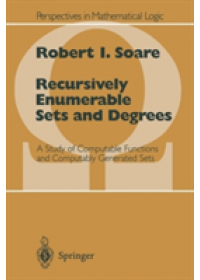 Obálka knihy  Recursively Enumerable Sets and Degrees od Soare Robert I., ISBN:  9783540666813