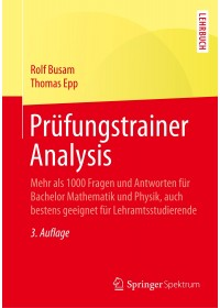 Obálka knihy  Prüfungstrainer Analysis od Epp Thomas, ISBN:  9783662550199
