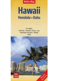 Obálka knihy  Nelles Map Hawaii: Honolulu, Oahu 1 : 150 000 od , ISBN:  9783865745354