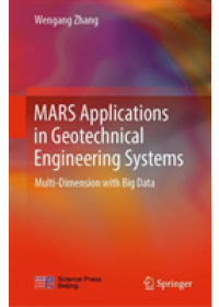 Obálka knihy  MARS Applications in Geotechnical Engineering Systems od Zhang Wengang, ISBN:  9789811374210