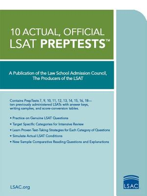 10 Actual, Official LSAT Preptests: (preptests 7,9,10,11,12,13,14,15,16,18) (Law School Admission Council)(Paperback)