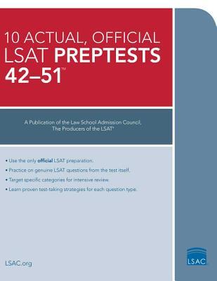 10 Actual 42-51, Official LSAT Preptests: (preptests 42-51) (Council Law School)(Paperback)