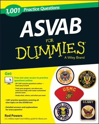 1,001 ASVAB Practice Questions for Dummies (+ Free Online Practice) (Powers Rod)(Paperback)