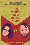1,205 Things I Want to Tell You (McVittie Brody Drew)(Paperback)