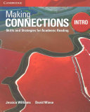 Making Connections Intro Student's Book - Skills and Strategies for Academic Reading (Williams Jessica)(Paperback)