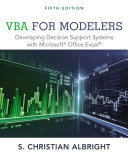 VBA for Modelers - Developing Decision Support Systems with Microsoft Office Express (Albright S.)(P