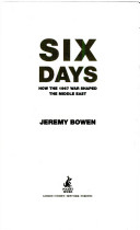 Six Days - How the 1967 War Shaped the Middle East (Bowen Jeremy)(Paperback)