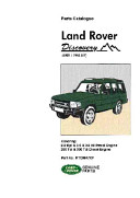 Land Rover Discovery Parts Catalogue 1989-1998 MY (Brooklands Books Ltd)(Paperback)