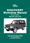 Land Rover Discovery Workshop Manual Owners Edition 1990 to 1998(Paperback)