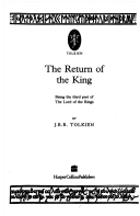Return of the King - The Lord of the Rings, Part 3 (Tolkien J. R. R.)(Paperback)